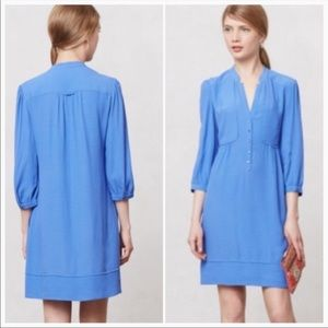 Maeve | Anthropologie | Blue Shirt Dress